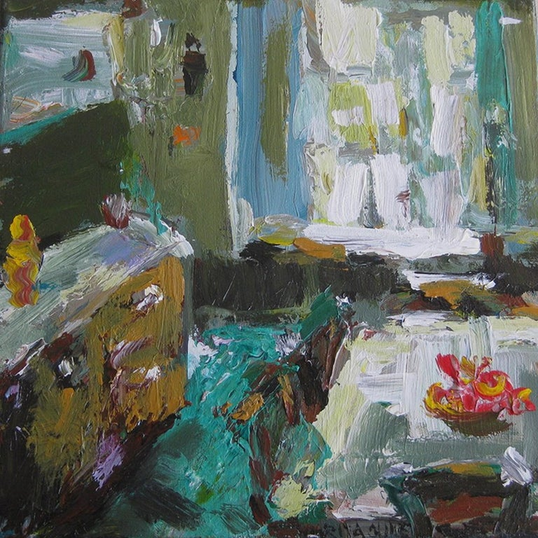 A Diningroom In Pittsburgh - Painting by Rita Guile