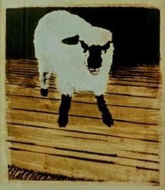LIKE A SHEEP (Gum Arabic print - beige, brown, black, white)