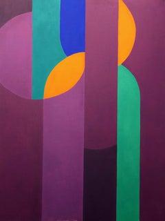 Castor & Pollux Adrift on the Wine Dark Sea (Geometric Abstraction, Minimalism)