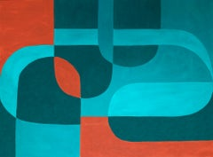 Cross Currents (Geometric Abstraction, Minimalism, Josef Albers, Hard Edge)