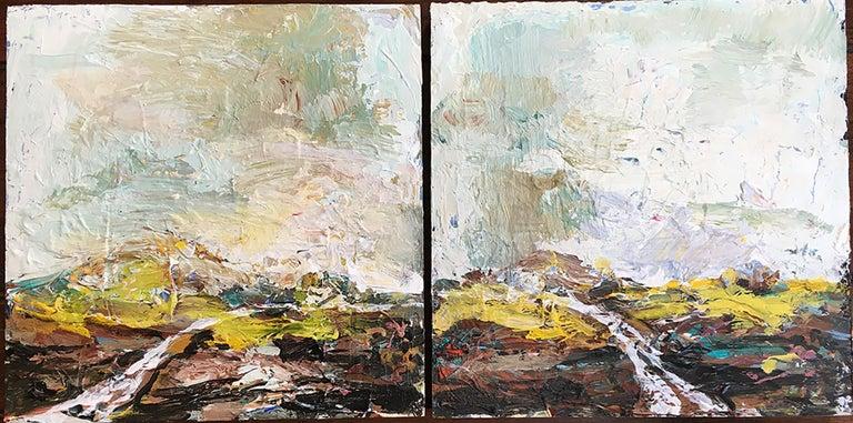 Rita Guile Abstract Painting - Flint Hills