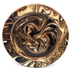 Marbled Plate IV (English slipware, 17th century style of pottery)