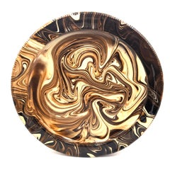 Marbled Plate V (English slipware, 17th century style of pottery)