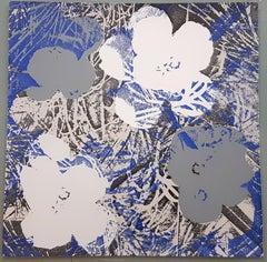 Flowers (Blue, Grey Hues - Pop Art)