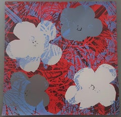 Flowers (Grey and Red Hues - Pop Art)