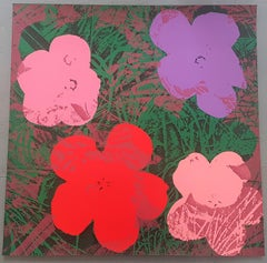 Flowers (Pink, Red, Purple Hues - Pop Art)