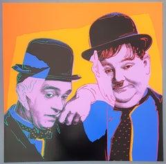 Stan and Laurel (Pop Art, Andy Warhol)