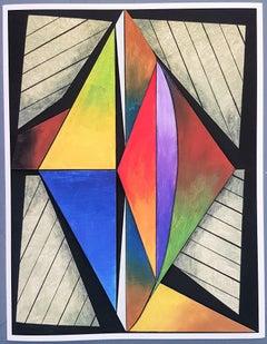 Geometric Composition #2 (3D-construction, Op Art, Lyonel Feininger)