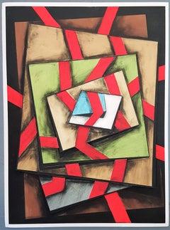 Geometric Composition #3 (3D-construction, Op Art, Lyonel Feininger)