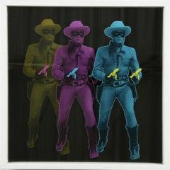 Triple Lone Ranger - Banana Guns - 3D (Pop Art, Warhol, Street Art)
