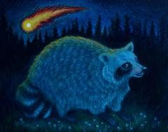 Raccoon Witnessing Life Ending Comet