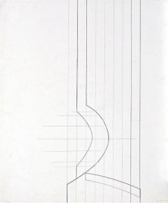 Untitled Geometric Abstraction (White) - Design for a Sculpture