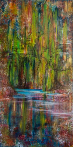 FANTASY-SWAMP- vertical colorful  abstract painting