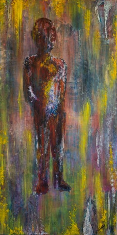 LONER- colorful figurative painting vertical
