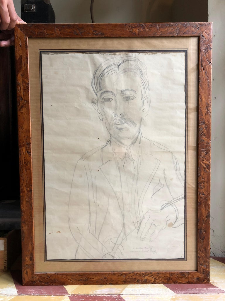 Original drawing (circa 1910 - 1925) of Marius André, pencil on paper, by Raoul Dufy (1877 - 1953). With impeccable provenance and authentication* by the leading expert on Dufy's work, this drawing has a very interesting history. Its owner, from
