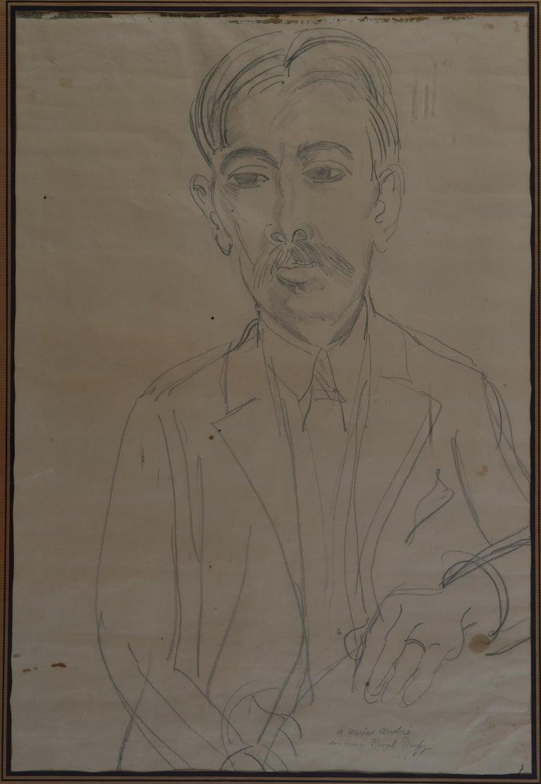 Portrait of Marius André - Art by Raoul Dufy