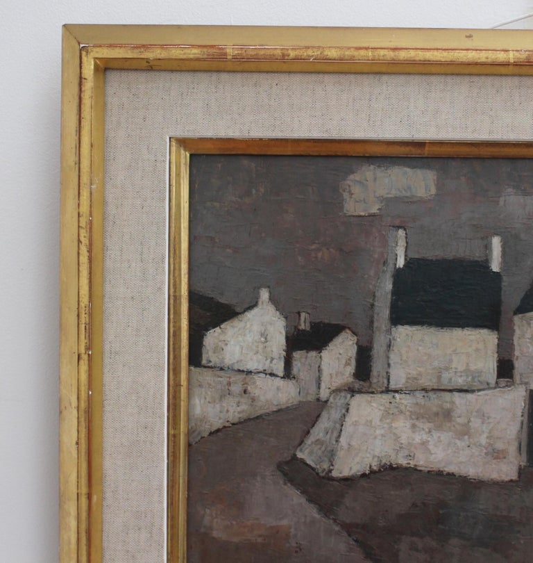 'Le Port' by Frank Milo, Mid-Century Seascape Oil Painting, Brittany France 1962 For Sale 5