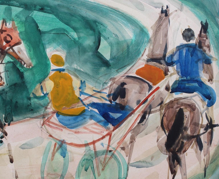A Day at the Deauville Racetrack For Sale 6