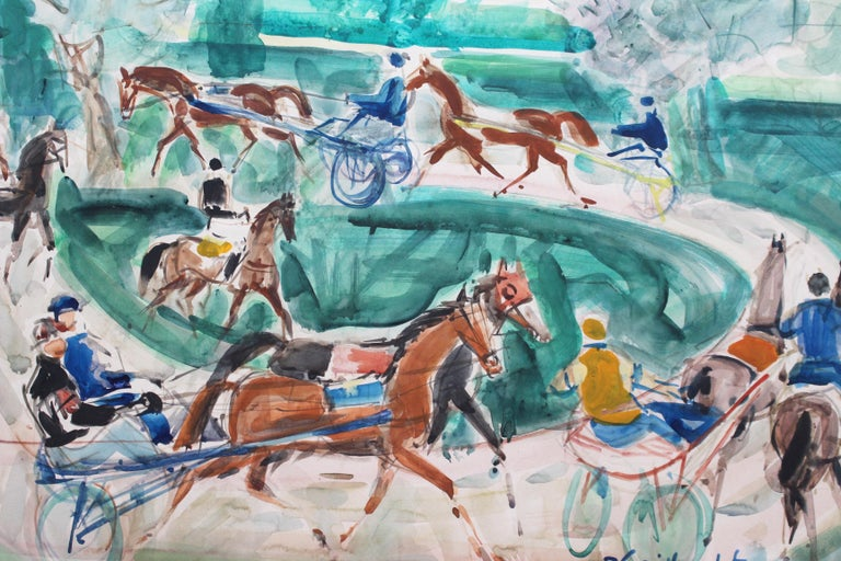 A Day at the Deauville Racetrack For Sale 1