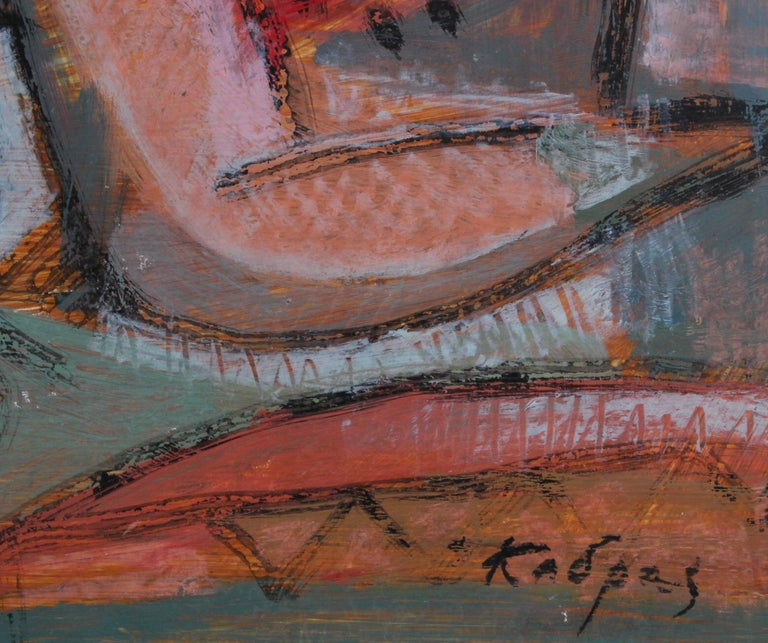 Reclining Woman in Abstract For Sale 8