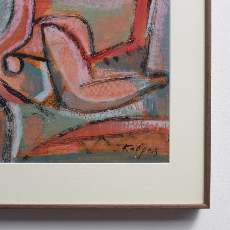 Reclining Woman in Abstract For Sale 7