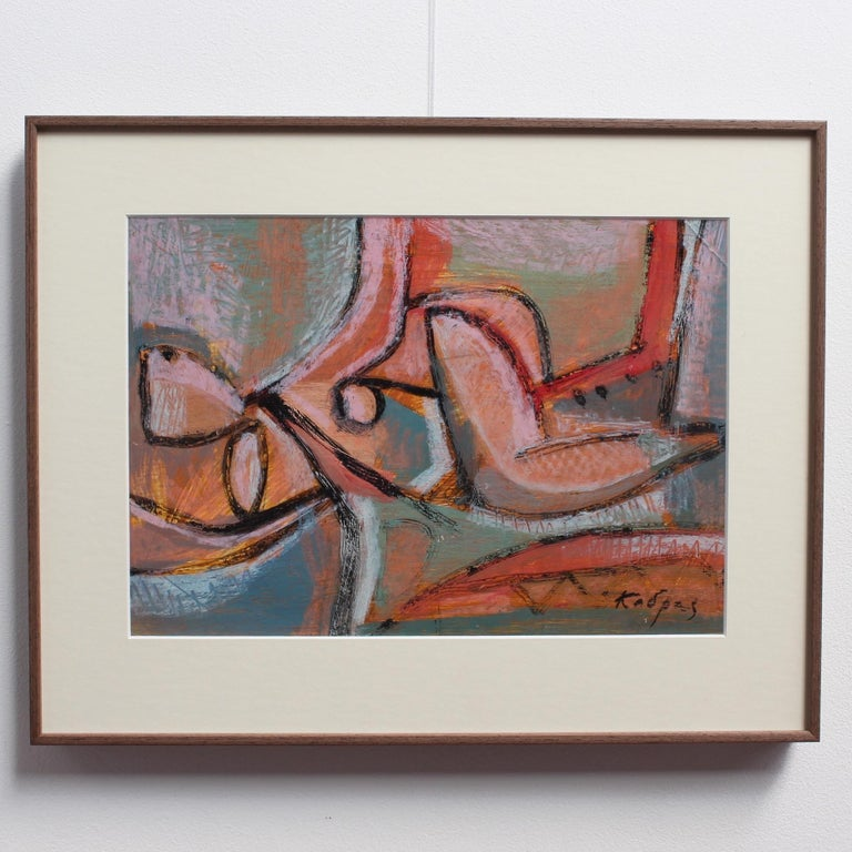 Reclining Woman in Abstract For Sale 1