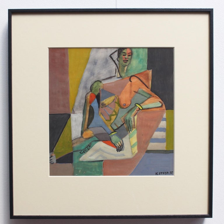 Cubist Nude Portrait of Seated Woman II  For Sale 1