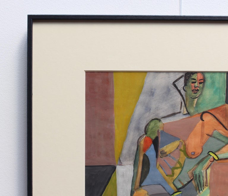 Cubist Nude Portrait of Seated Woman II  For Sale 11