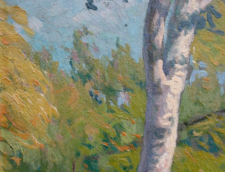'Verdant Tuscan Forest View' by Umberto Gambassini, Italian Oil Landscape  For Sale 2