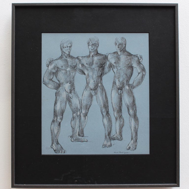 'Muscles, Muscles and More Muscles' by René Bolliger, Male Nude Erotica c. 1960s - Modern Art by René Bolliger