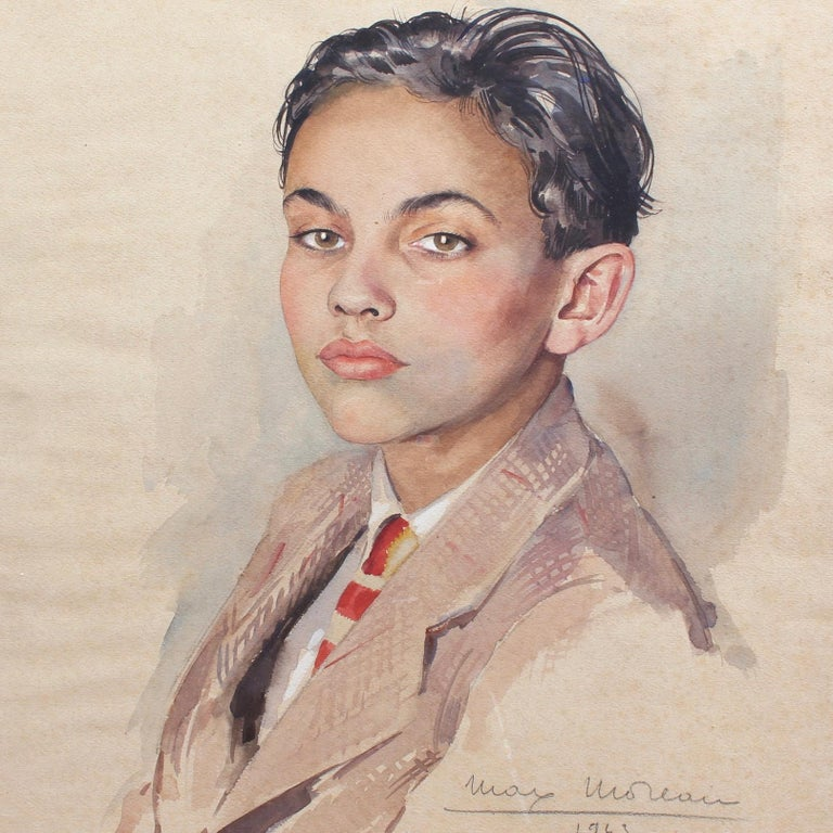 Portrait of Suited Boy For Sale 1
