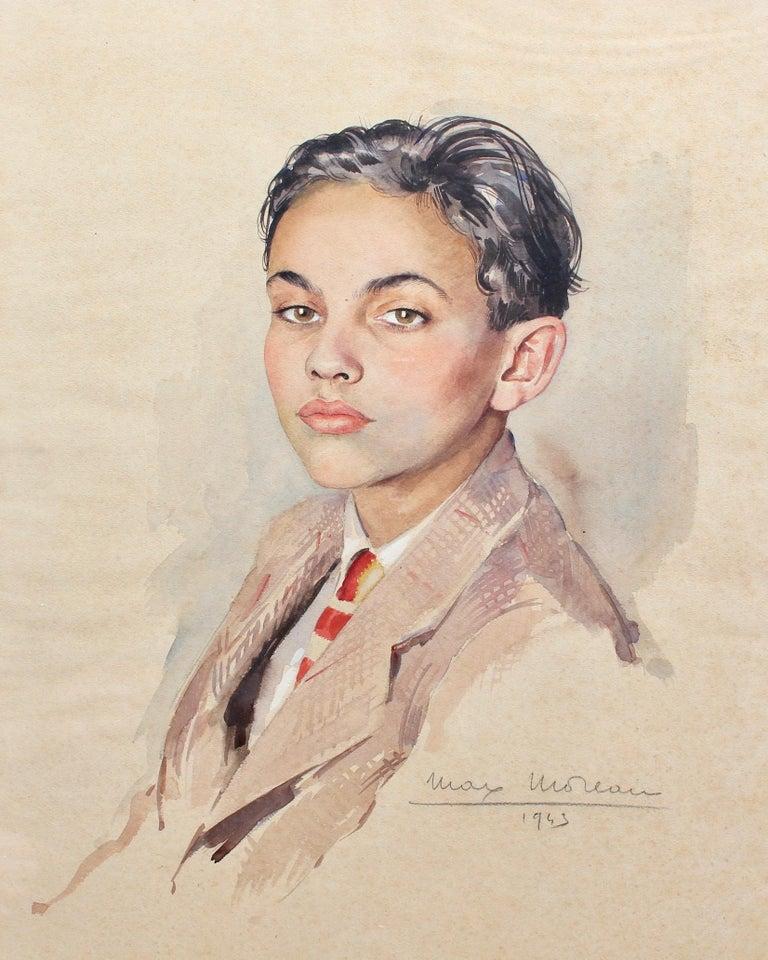 Portrait of Suited Boy - Art by Max Moreau