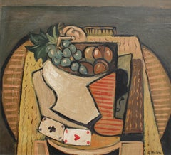 Still Life with Bowl of Fruit and Cards