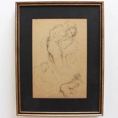 Series of Four Studies by Antoine Calbet (circa 1920s)