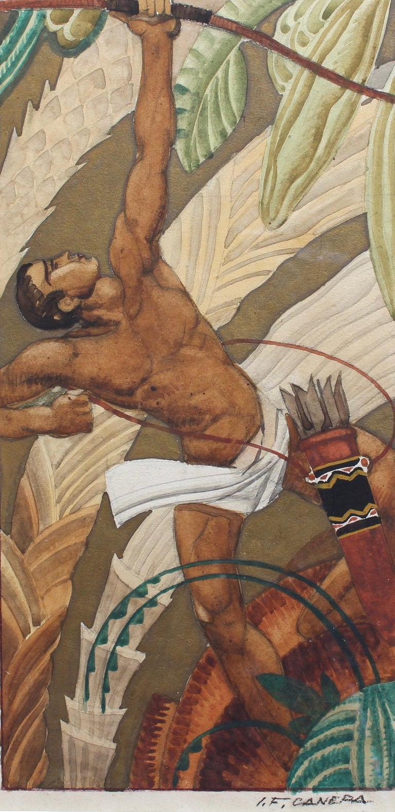 Jean-Frédéric Canepa Portrait Painting - The Archer