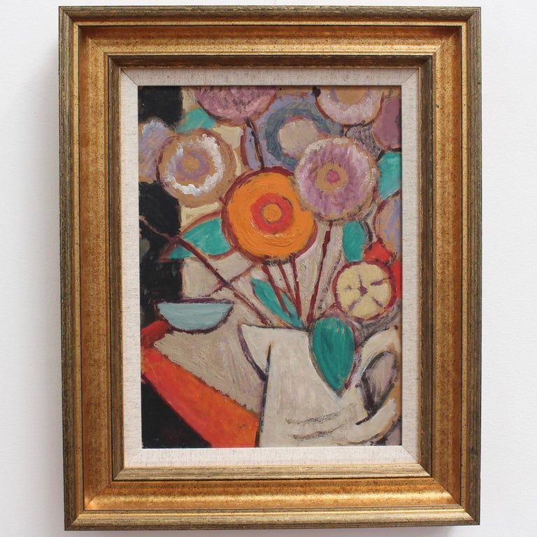 Still Life - White Jug with Flowers - Painting by Juliette Roche-Gleizes