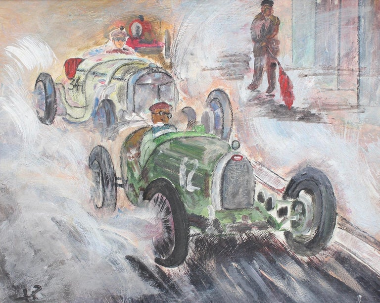 Unknown Figurative Painting - Grand Prix Racer II