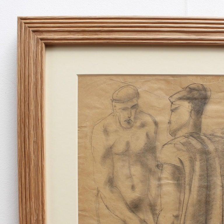 The Roman Bath - Brown Portrait by Roman school