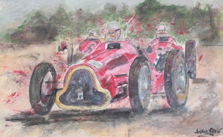 Unknown Portrait Painting - Grand Prix Racer