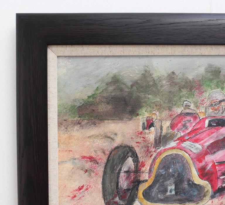 Grand Prix Racer - Gray Portrait Painting by Unknown