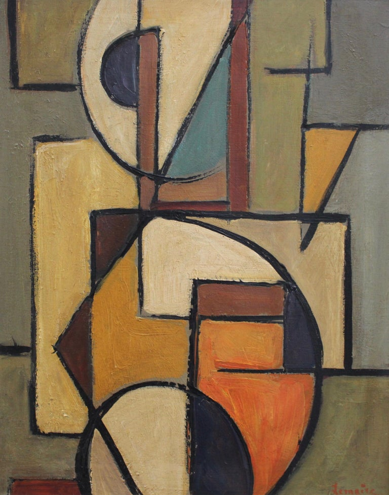 Berlin School Abstract Painting - 'Abstract Composition in Colour' by Lemaire