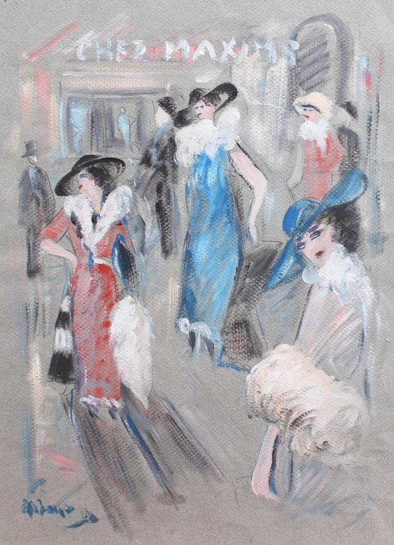 André Meurice Figurative Art - Chez Maxim's