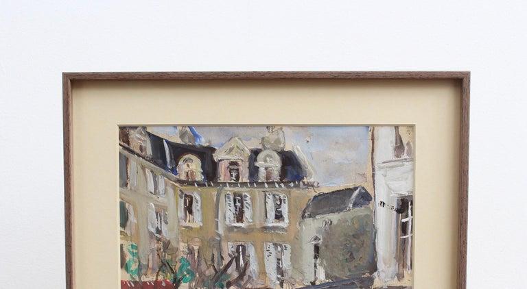 A View of Paris - Gray Landscape Art by Lucien Génin