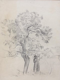 Mother and Child Under Tree