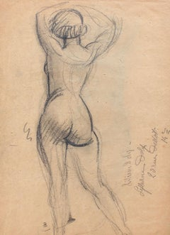Standing Nude with Raised Arms