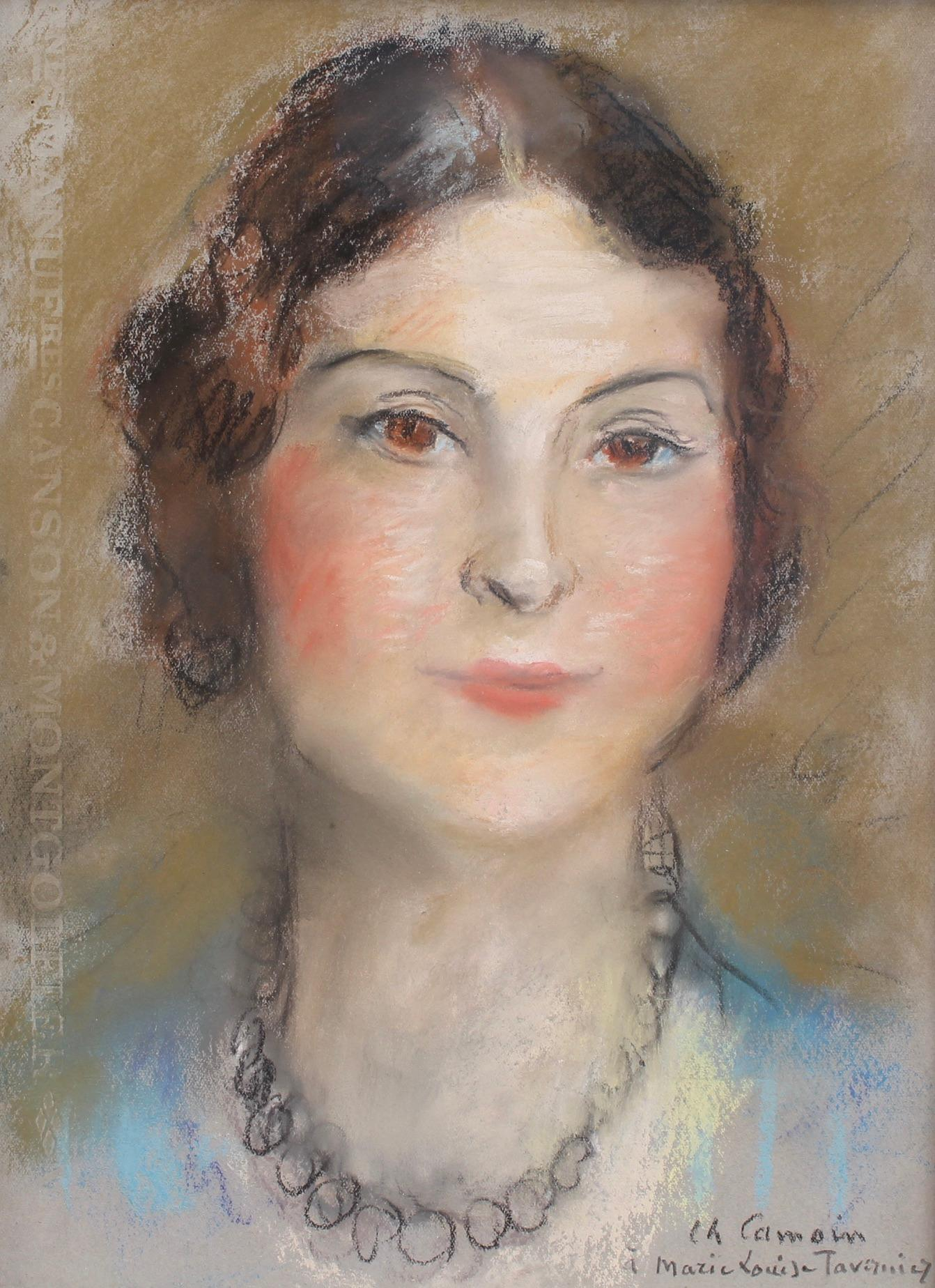 Portrait of Woman in Pearl Necklace