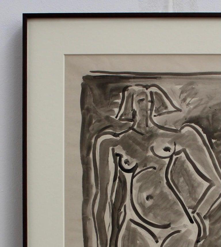 Standing Nude - Gray Portrait by Louis Latapie