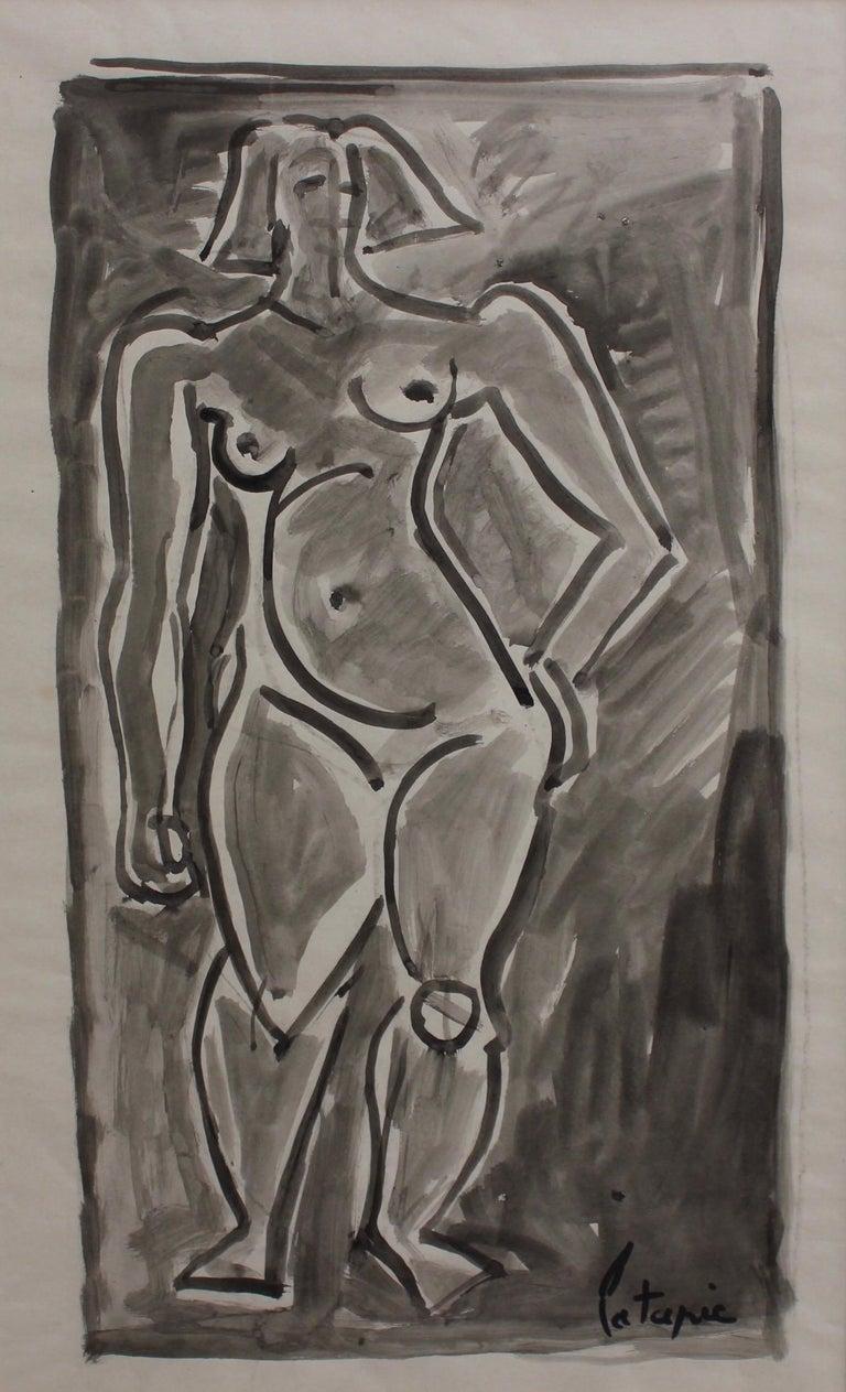 Louis Latapie Portrait - Standing Nude