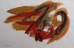Composition in Orange and Red