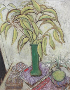 Still Life with Foliage and Books